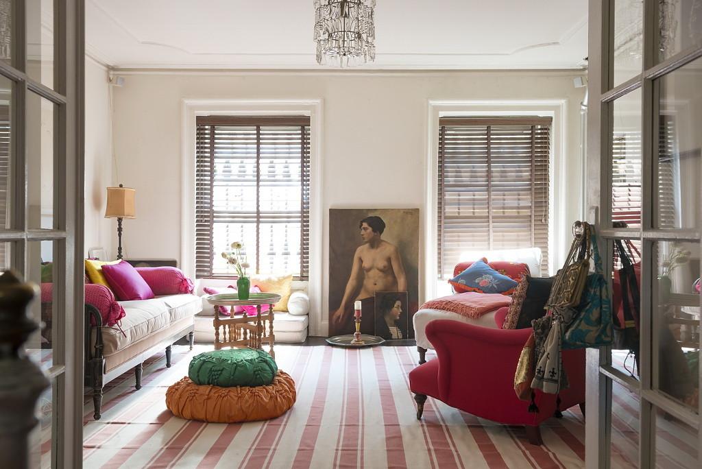 Ковёр идеального размера в гостиной