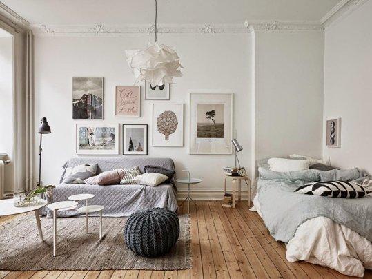 гостиная и спальня в одной комнате 6 идей для зонирования