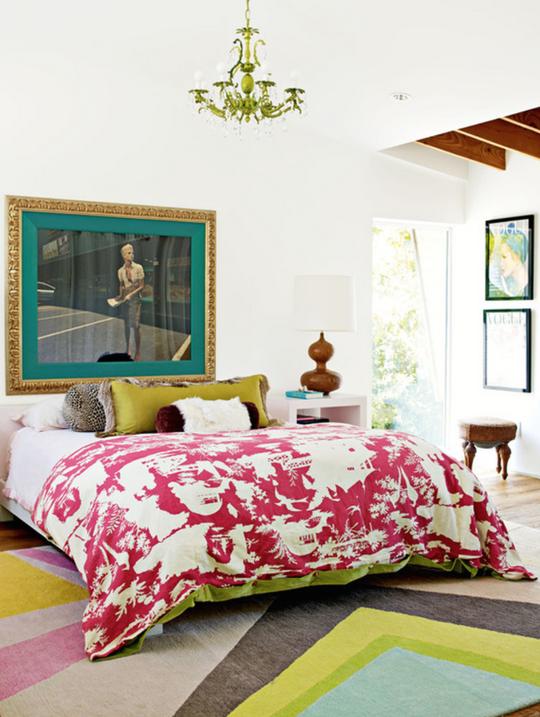 Правильный ковёр в спальне