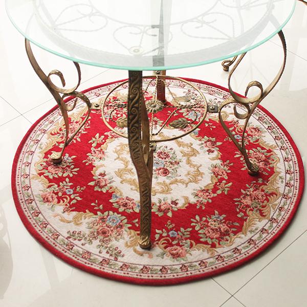 Неправильный круглый коврик для столовой