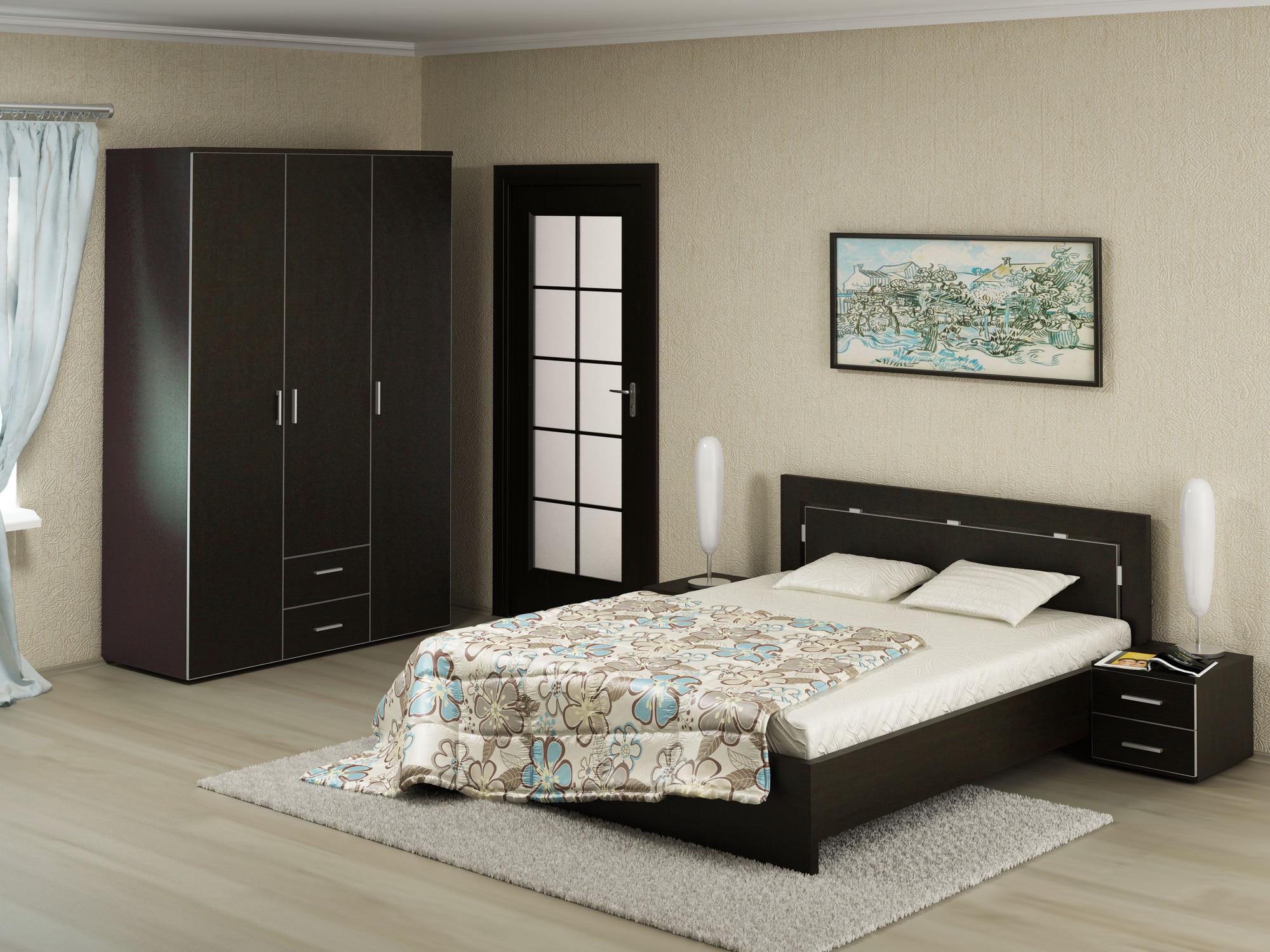 Неправильный ковёр для спальни - маленький.